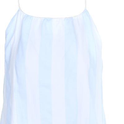 ruffle detail stripe pattern slip dress
